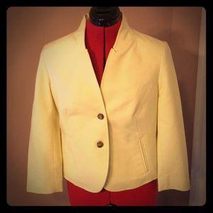 Loft yellow suit jacket, size 4